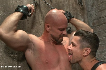 Photo number 2 from Leather Hookup with Trenton and Mitch shot for Bound Gods on Kink.com. Featuring Trenton Ducati and Mitch Vaughn in hardcore BDSM & Fetish porn.