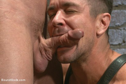Photo number 8 from Leather Hookup with Trenton and Mitch shot for Bound Gods on Kink.com. Featuring Trenton Ducati and Mitch Vaughn in hardcore BDSM & Fetish porn.
