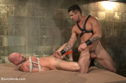Photo number 10 from Leather Hookup with Trenton and Mitch shot for Bound Gods on Kink.com. Featuring Trenton Ducati and Mitch Vaughn in hardcore BDSM & Fetish porn.