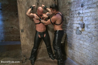 Photo number 11 from Leather Hookup with Trenton and Mitch shot for Bound Gods on Kink.com. Featuring Trenton Ducati and Mitch Vaughn in hardcore BDSM & Fetish porn.