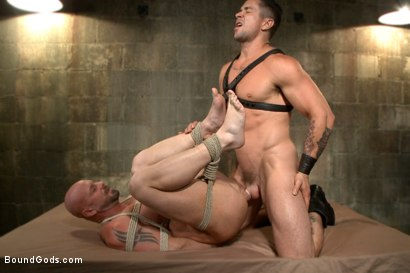 Photo number 7 from Leather Hookup with Trenton and Mitch shot for Bound Gods on Kink.com. Featuring Trenton Ducati and Mitch Vaughn in hardcore BDSM & Fetish porn.