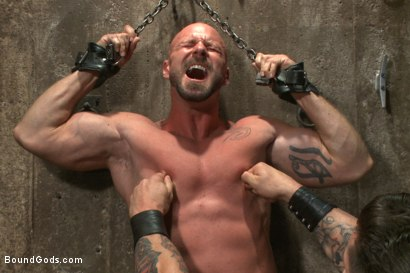 Photo number 3 from Leather Hookup with Trenton and Mitch shot for Bound Gods on Kink.com. Featuring Trenton Ducati and Mitch Vaughn in hardcore BDSM & Fetish porn.