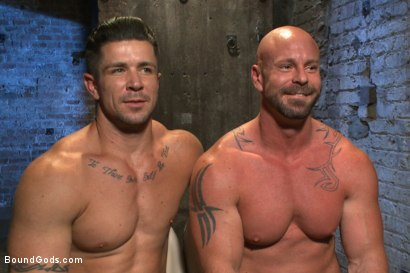 Photo number 15 from Leather Hookup with Trenton and Mitch shot for Bound Gods on Kink.com. Featuring Trenton Ducati and Mitch Vaughn in hardcore BDSM & Fetish porn.