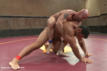 "Photo number 5 from OILED MUSCLE: Mitch ""The Machine"" Vaughn vs Marcus ""Titan"" Ruhl   shot for Naked Kombat on Kink.com. Featuring Marcus Ruhl and Mitch Vaughn in hardcore BDSM & Fetish porn."
