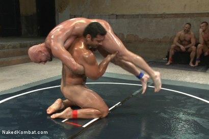 "Photo number 10 from OILED MUSCLE: Mitch ""The Machine"" Vaughn vs Marcus ""Titan"" Ruhl   shot for Naked Kombat on Kink.com. Featuring Marcus Ruhl and Mitch Vaughn in hardcore BDSM & Fetish porn."
