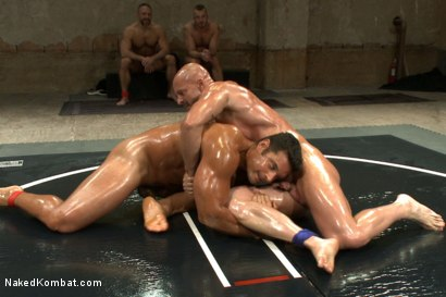 "Photo number 9 from OILED MUSCLE: Mitch ""The Machine"" Vaughn vs Marcus ""Titan"" Ruhl   shot for Naked Kombat on Kink.com. Featuring Marcus Ruhl and Mitch Vaughn in hardcore BDSM & Fetish porn."