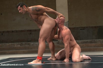 "Photo number 11 from OILED MUSCLE: Mitch ""The Machine"" Vaughn vs Marcus ""Titan"" Ruhl   shot for Naked Kombat on Kink.com. Featuring Marcus Ruhl and Mitch Vaughn in hardcore BDSM & Fetish porn."