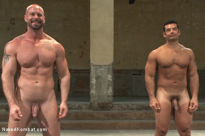 "Photo number 15 from OILED MUSCLE: Mitch ""The Machine"" Vaughn vs Marcus ""Titan"" Ruhl   shot for Naked Kombat on Kink.com. Featuring Marcus Ruhl and Mitch Vaughn in hardcore BDSM & Fetish porn."