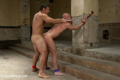 "Photo number 13 from OILED MUSCLE: Mitch ""The Machine"" Vaughn vs Marcus ""Titan"" Ruhl   shot for Naked Kombat on Kink.com. Featuring Marcus Ruhl and Mitch Vaughn in hardcore BDSM & Fetish porn."