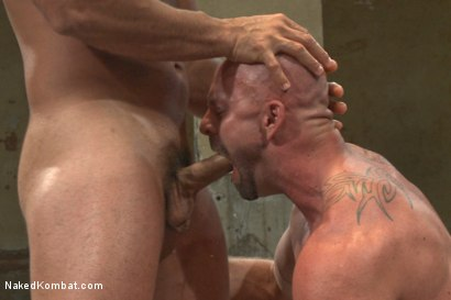 "Photo number 12 from OILED MUSCLE: Mitch ""The Machine"" Vaughn vs Marcus ""Titan"" Ruhl   shot for Naked Kombat on Kink.com. Featuring Marcus Ruhl and Mitch Vaughn in hardcore BDSM & Fetish porn."