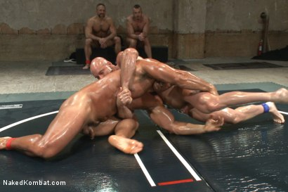 "Photo number 7 from OILED MUSCLE: Mitch ""The Machine"" Vaughn vs Marcus ""Titan"" Ruhl   shot for Naked Kombat on Kink.com. Featuring Marcus Ruhl and Mitch Vaughn in hardcore BDSM & Fetish porn."
