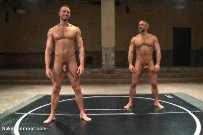 "Photo number 15 from Jesse ""Cut-Throat"" Colter vs Dirk ""The Claymore"" Caber shot for Naked Kombat on Kink.com. Featuring Jessie Colter and Dirk Caber in hardcore BDSM & Fetish porn."