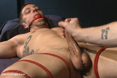 Photo number 11 from Torturous Edging of Bryan Cole shot for Men On Edge on Kink.com. Featuring Bryan Cole in hardcore BDSM & Fetish porn.
