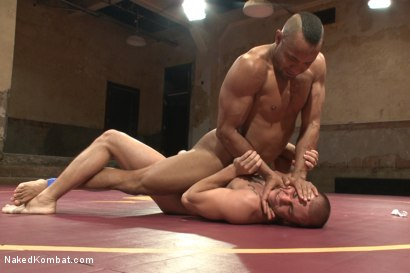 "Photo number 2 from Eli ""The Hammer"" Hunter vs Troy ""The Tank"" Sparks shot for Naked Kombat on Kink.com. Featuring Eli Hunter and Troy Sparks in hardcore BDSM & Fetish porn."