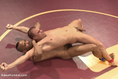 "Photo number 4 from Eli ""The Hammer"" Hunter vs Troy ""The Tank"" Sparks shot for Naked Kombat on Kink.com. Featuring Eli Hunter and Troy Sparks in hardcore BDSM & Fetish porn."
