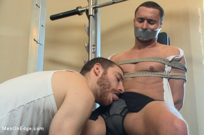 Photo number 1 from Gym jock taken down and edged against his will  shot for Men On Edge on Kink.com. Featuring Colt Rivers in hardcore BDSM & Fetish porn.
