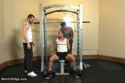Photo number 2 from Gym jock taken down and edged against his will  shot for Men On Edge on Kink.com. Featuring Colt Rivers in hardcore BDSM & Fetish porn.