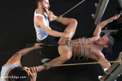 Photo number 13 from Gym jock taken down and edged against his will  shot for Men On Edge on Kink.com. Featuring Colt Rivers in hardcore BDSM & Fetish porn.