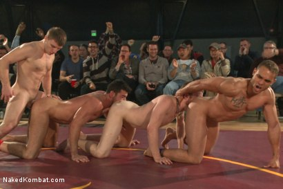 Photo number 9 from Billy Santoro & Sebastian Keys VS Doug Acre & Brock Avery - Live Match shot for Naked Kombat on Kink.com. Featuring Billy Santoro, Doug Acre, Brock Avery and Sebastian Keys in hardcore BDSM & Fetish porn.