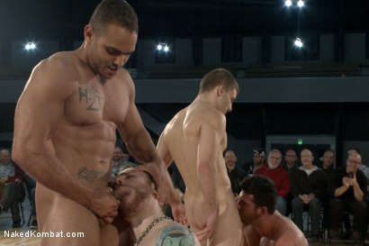Photo number 6 from Billy Santoro & Sebastian Keys VS Doug Acre & Brock Avery - Live Match shot for Naked Kombat on Kink.com. Featuring Billy Santoro, Doug Acre, Brock Avery and Sebastian Keys in hardcore BDSM & Fetish porn.