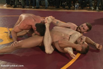 Photo number 3 from Billy Santoro & Sebastian Keys VS Doug Acre & Brock Avery - Live Match shot for Naked Kombat on Kink.com. Featuring Billy Santoro, Doug Acre, Brock Avery and Sebastian Keys in hardcore BDSM & Fetish porn.