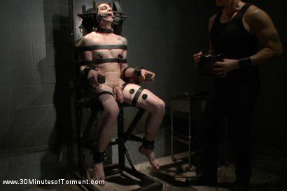 Photo number 14 from Stud with a 10 inch fat cock gets torment to the extreme shot for 30 Minutes of Torment on Kink.com. Featuring Jay Rising in hardcore BDSM & Fetish porn.