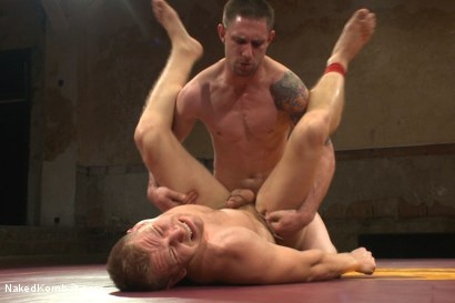 """Photo number 14 from """"Slick-Dick"""" vs """"The Axe"""" - Two Hung Studs Fight for Redemption! shot for Naked Kombat on Kink.com. Featuring Alex Adams and Jay Rising in hardcore BDSM & Fetish porn."""