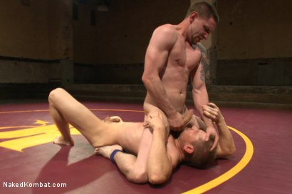 """Photo number 4 from """"Slick-Dick"""" vs """"The Axe"""" - Two Hung Studs Fight for Redemption! shot for Naked Kombat on Kink.com. Featuring Alex Adams and Jay Rising in hardcore BDSM & Fetish porn."""