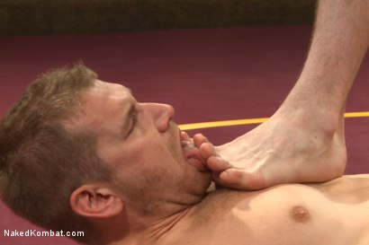 """Photo number 11 from """"Slick-Dick"""" vs """"The Axe"""" - Two Hung Studs Fight for Redemption! shot for Naked Kombat on Kink.com. Featuring Alex Adams and Jay Rising in hardcore BDSM & Fetish porn."""