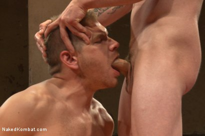 "Photo number 10 from ""Slick-Dick"" vs ""The Axe"" - Two Hung Studs Fight for Redemption! shot for Naked Kombat on Kink.com. Featuring Alex Adams and Jay Rising in hardcore BDSM & Fetish porn."