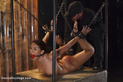 Photo number 3 from Young Latin Pain Slut  shot for Device Bondage on Kink.com. Featuring Liv Aguilera in hardcore BDSM & Fetish porn.
