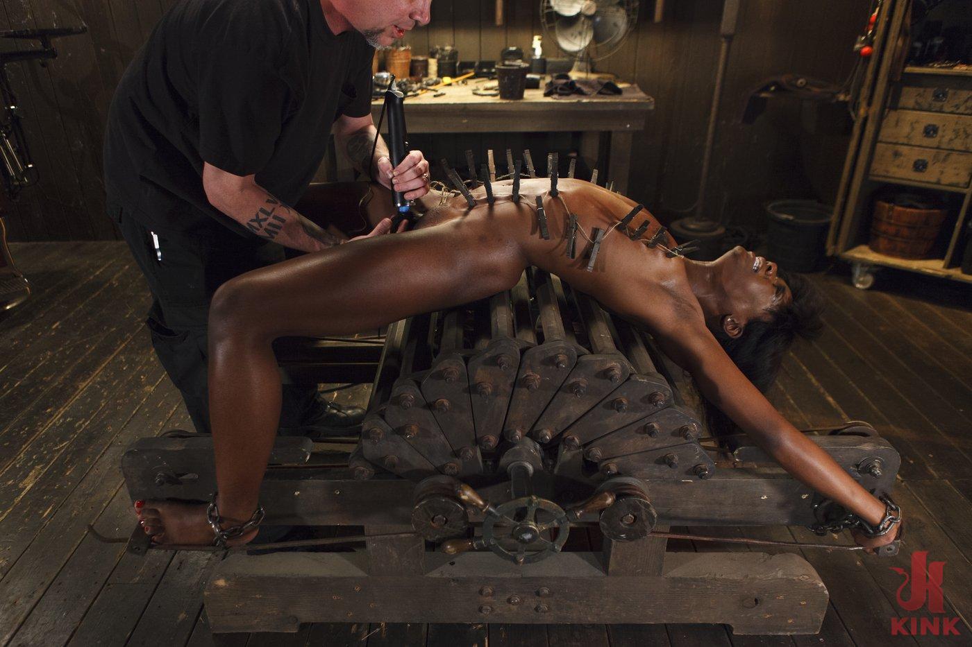 Photo number 7 from Runway Model Turned Slut, gets Destroyed!!! shot for Device Bondage on Kink.com. Featuring Ana Foxxx in hardcore BDSM & Fetish porn.