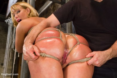 Photo number 7 from TIED WIDE OPEN for DOUBLE PENETRATION shot for Hogtied on Kink.com. Featuring Mellanie Monroe in hardcore BDSM & Fetish porn.