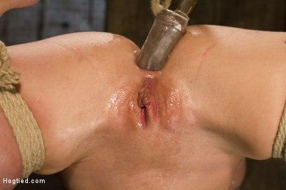 Photo number 12 from Big Tit Double Penetration Bondage Slut shot for Hogtied on Kink.com. Featuring Leya Falcon in hardcore BDSM & Fetish porn.