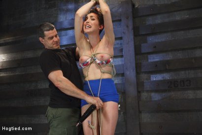 Photo number 15 from Gorgeous Girl, Screaming Orgasms, Tight Rope shot for Hogtied on Kink.com. Featuring Lily LaBeau in hardcore BDSM & Fetish porn.