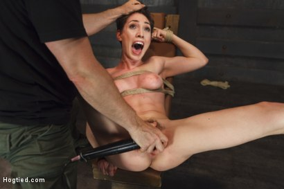 Photo number 8 from Gorgeous Girl, Screaming Orgasms, Tight Rope shot for Hogtied on Kink.com. Featuring Lily LaBeau in hardcore BDSM & Fetish porn.