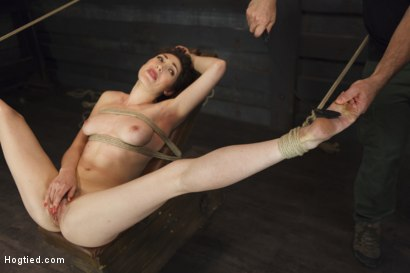Photo number 16 from Gorgeous Girl, Screaming Orgasms, Tight Rope shot for Hogtied on Kink.com. Featuring Lily LaBeau in hardcore BDSM & Fetish porn.