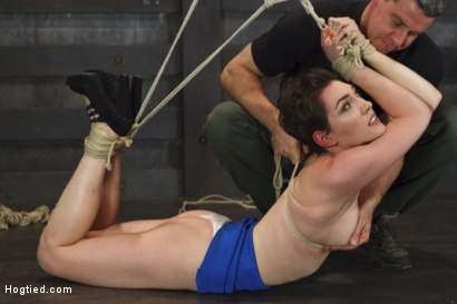 Photo number 5 from Gorgeous Girl, Screaming Orgasms, Tight Rope shot for Hogtied on Kink.com. Featuring Lily LaBeau in hardcore BDSM & Fetish porn.