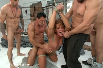 Photo number 4 from Super Hot red head taken down in a nasty squirt fest. Double Anal! shot for Hardcore Gangbang on Kink.com. Featuring Toni Ribas, Savannah Fox, Mr. Pete, John Strong, Marco Banderas and Astral Dust in hardcore BDSM & Fetish porn.