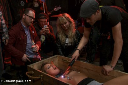 Photo number 2 from Sex, disgrace and noise! Hottie fucked at a punk show. Squirt all over shot for Public Disgrace on Kink.com. Featuring Xander Corvus and Savannah Fox in hardcore BDSM & Fetish porn.