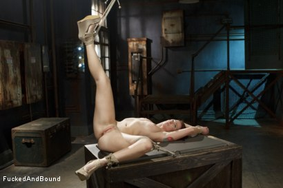 Photo number 5 from Newbie gets brutally fucked in tight bondage shot for Fucked and Bound on Kink.com. Featuring Derrick Pierce and Sophia Locke in hardcore BDSM & Fetish porn.