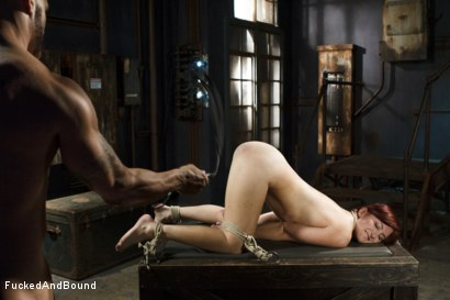 Photo number 15 from Newbie gets brutally fucked in tight bondage shot for  on Kink.com. Featuring Derrick Pierce and Sophia Locke in hardcore BDSM & Fetish porn.