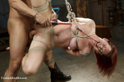 Photo number 8 from Newbie gets brutally fucked in tight bondage shot for  on Kink.com. Featuring Derrick Pierce and Sophia Locke in hardcore BDSM & Fetish porn.