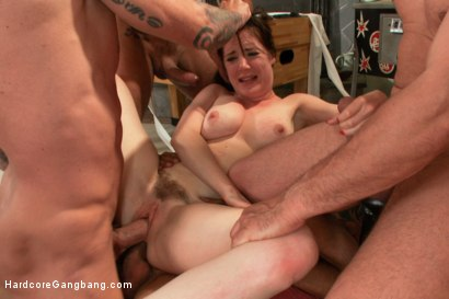 image First time gang bang for my gf