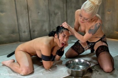 Photo number 19 from Lesbian Aversion Therapy shot for Electro Sluts on Kink.com. Featuring Mia Li and Lorelei Lee in hardcore BDSM & Fetish porn.
