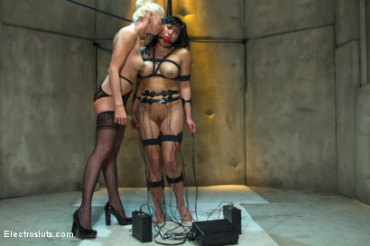 Photo number 20 from Lesbian Aversion Therapy shot for Electro Sluts on Kink.com. Featuring Mia Li and Lorelei Lee in hardcore BDSM & Fetish porn.
