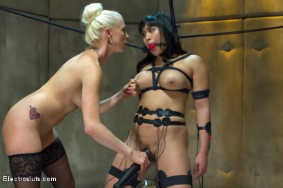 Photo number 7 from Lesbian Aversion Therapy shot for Electro Sluts on Kink.com. Featuring Mia Li and Lorelei Lee in hardcore BDSM & Fetish porn.