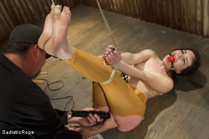 Photo number 4 from March Madness - Extreme Bondage, Orgasm Overload, Brutal Torture, Hair Suspension! shot for Sadistic Rope on Kink.com. Featuring Juliette March in hardcore BDSM & Fetish porn.