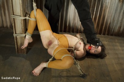 Photo number 5 from March Madness - Extreme Bondage, Orgasm Overload, Brutal Torture, Hair Suspension! shot for Sadistic Rope on Kink.com. Featuring Juliette March in hardcore BDSM & Fetish porn.