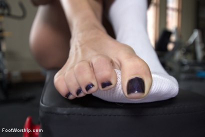 Photo number 13 from Physical Trainer Worships Sweaty MILF Feet! shot for Foot Worship on Kink.com. Featuring Angel Allwood and Cliff Adams in hardcore BDSM & Fetish porn.